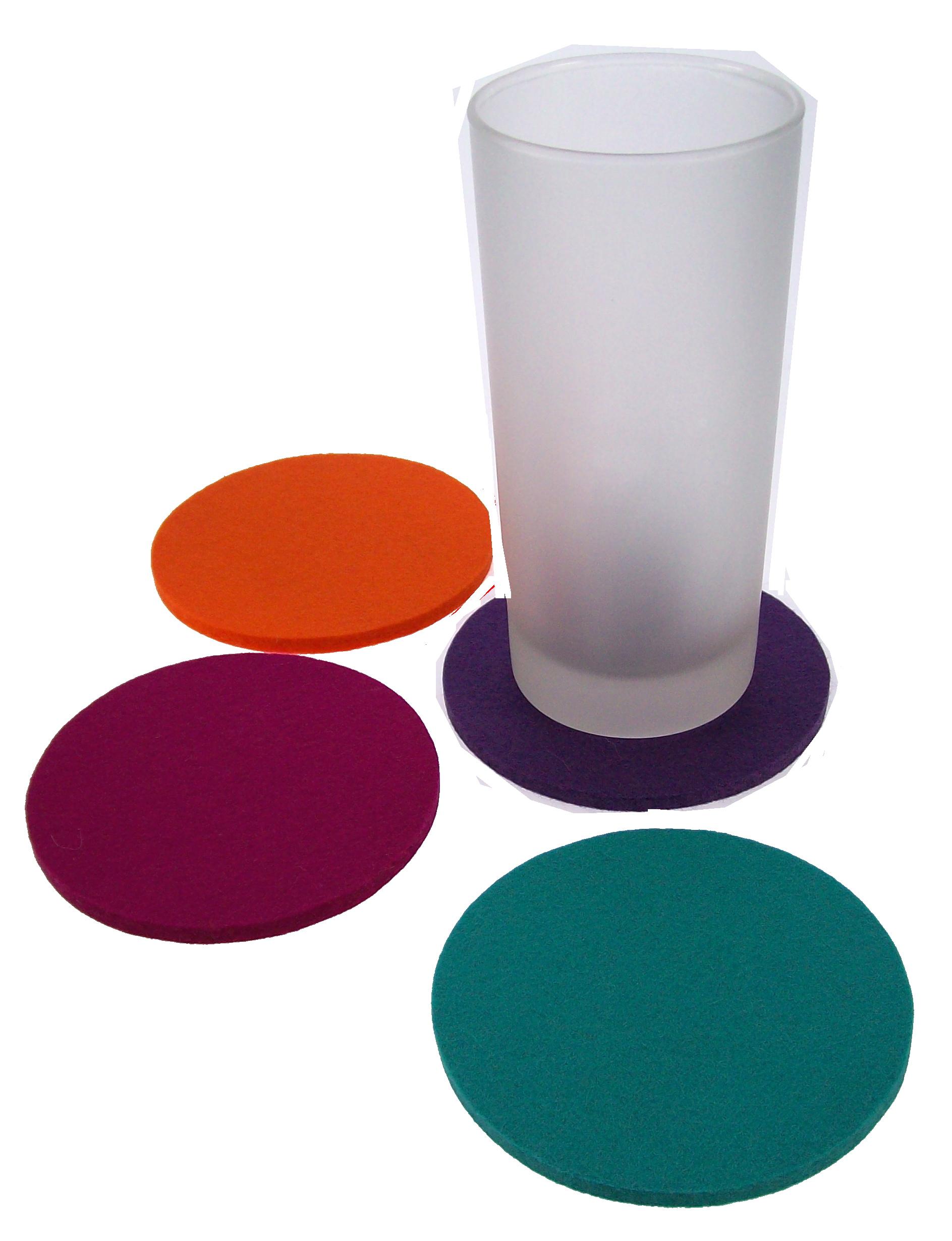 filz, untersatz,  glasuntersatz, filz, bedruckt, mit logo, individuell, gestaltet