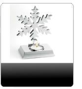 schneeflocken teelichthalter